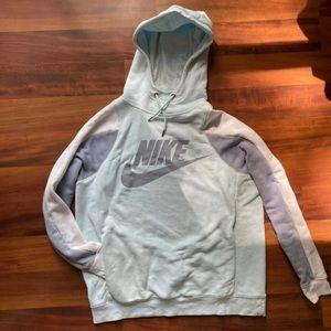 Nike medium blue hoodie sweatshirt baby blue